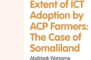 14.Extent of ICT adoption by ACP farmers: The case of Somaliland